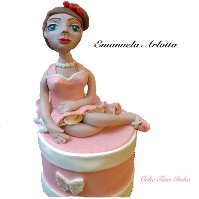 Cake Topper Ballerina Pasta di Zucchero