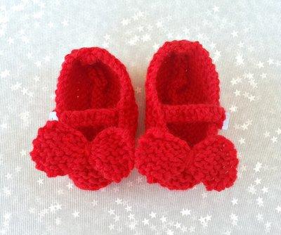 f58899c0c8f9 ... Set regalo neonato in lana rosso