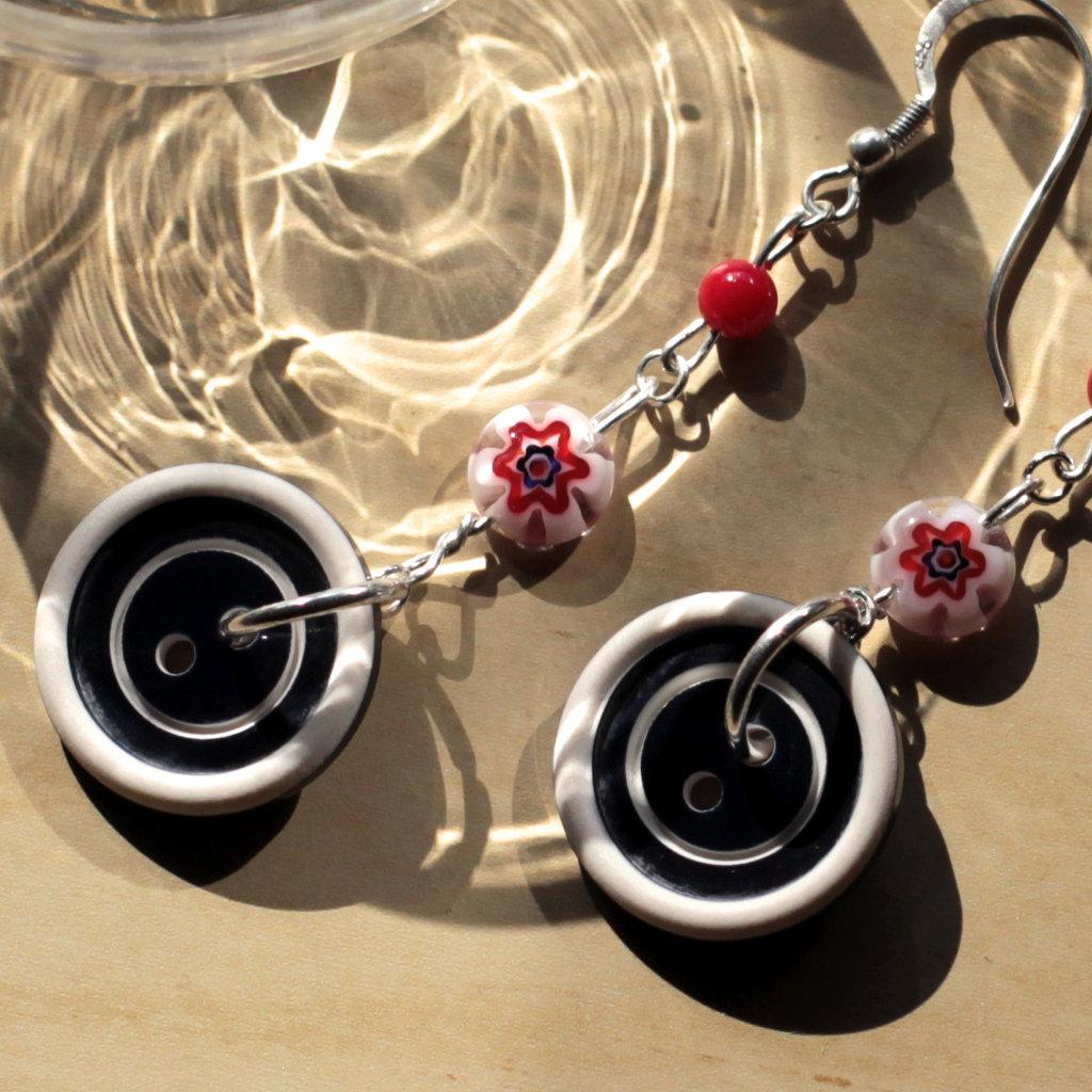 O17.14 - orecchini pendenti con murrine - Linea Miro