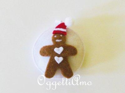 Decorazione Natalizia 'Biscotto di Pandizenzero': l'addobbo in feltro per l'algero di Natale!