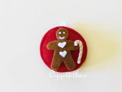Biscottino di Pandizenzero in feltro per l'albero di Natale: La decorazione golosa per addobbare casa!