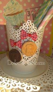 """orecchini in fimo con biscotti """"ringo"""""""