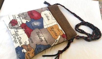 """borsetta a tracolla  """"appunti di viaggio"""" marrone e beige"""