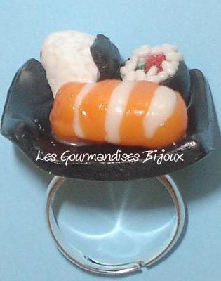 anello  sushi fimo cernit