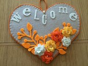Cuore appendi porta welcome