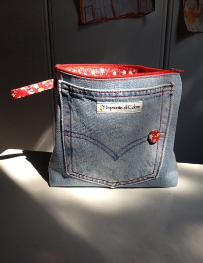 Astuccio in jeans
