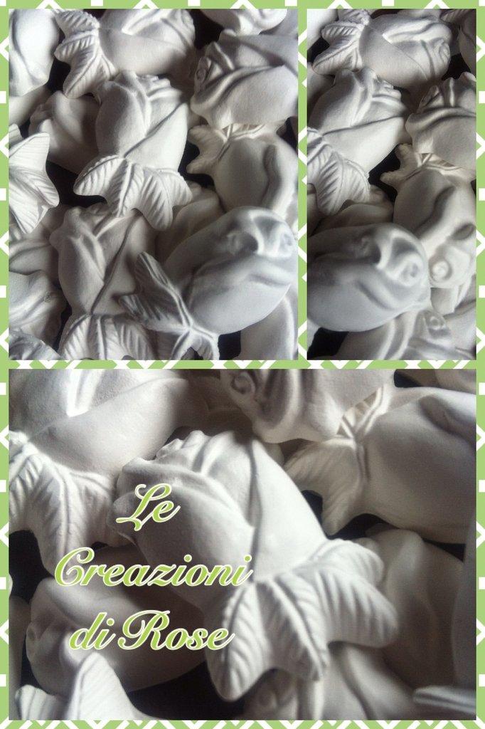 Gessi gessetti profumati bocciolo rosa segnaposto matrimonio nascita bomboniera