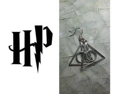 Orecchini Harry Potter Doni della Morte.
