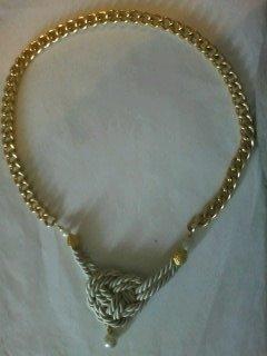 collana catena e cordoncino