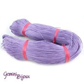 Lotto 1 metro cordino cotone cerato purple 1mm