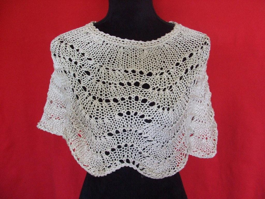 copri spalle donna maglia cotone + lurex o lana + lurex