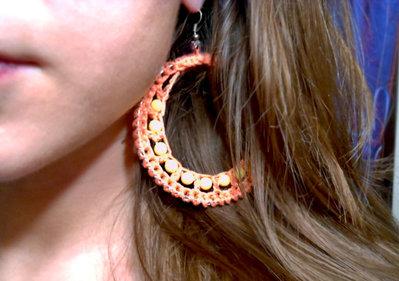 Orecchini a cerchio con perline fatti a mano - SummerTime