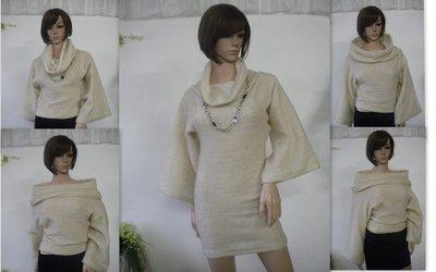Insolito tunica maglione versatile.  di maglia  lana