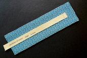 Segnalibro handmade in tessuto giapponese seigaiha – haiku