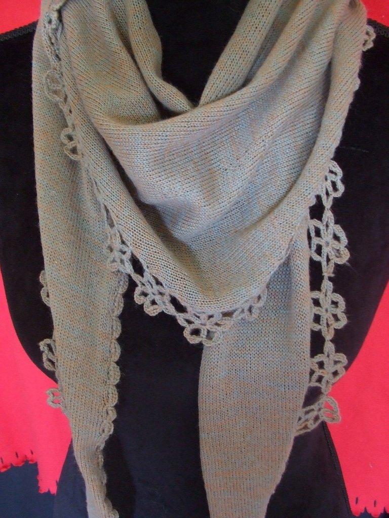 sciarpa donna leggera maglia lana  o cotone maglia