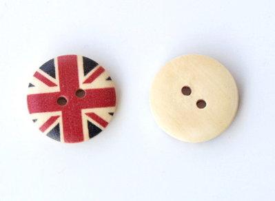 Set 10 bottoni 18mm - UK