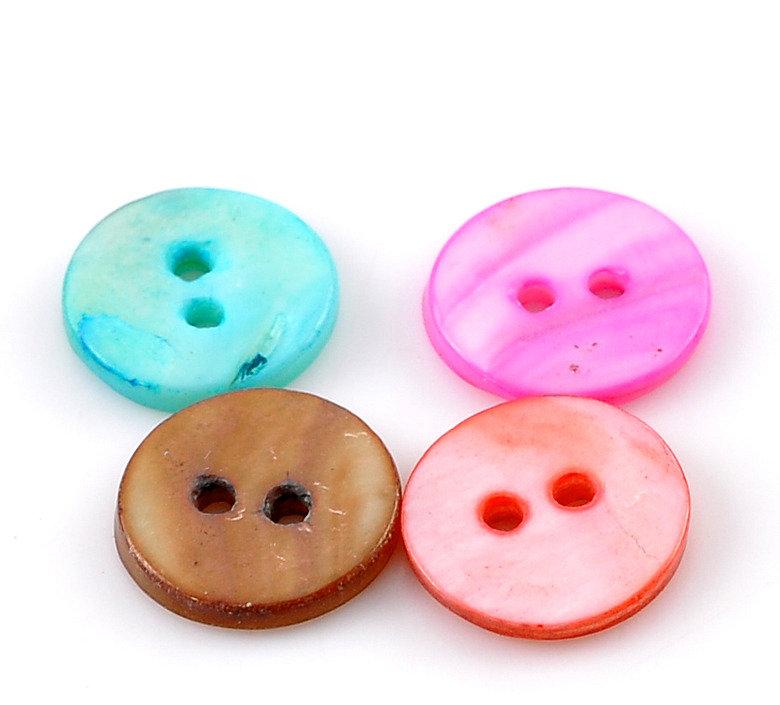 Set 12 bottoni in madreperla - 13 mm