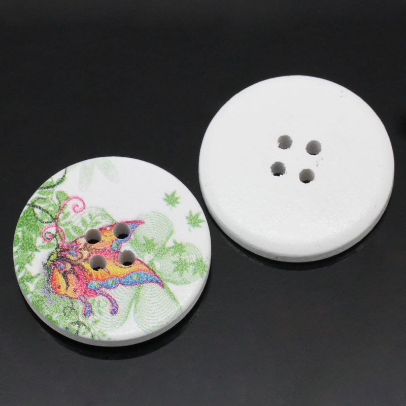 Set 5 bottoni 30mm - Farfalla