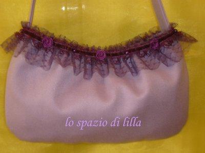 """Sinfonia in lilla""  Shoulder bag"
