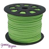 Lotto 1 metro cordino pelle scamosciata 3mm verde prato