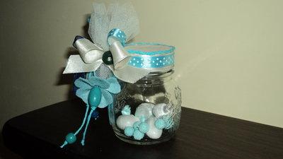 idea bomboniera utile segnaposto fai da te artigianale vasetto vetro battesimo bimbo