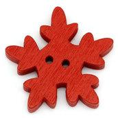 Set 10 bottoni - Fiocco rosso