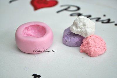 STAMPO FIMO bignè 0,5mm ST030 in silicone flessibile 3d macaron miniature dollhouse charm kawaii fimo gioielli sapone resina gesso