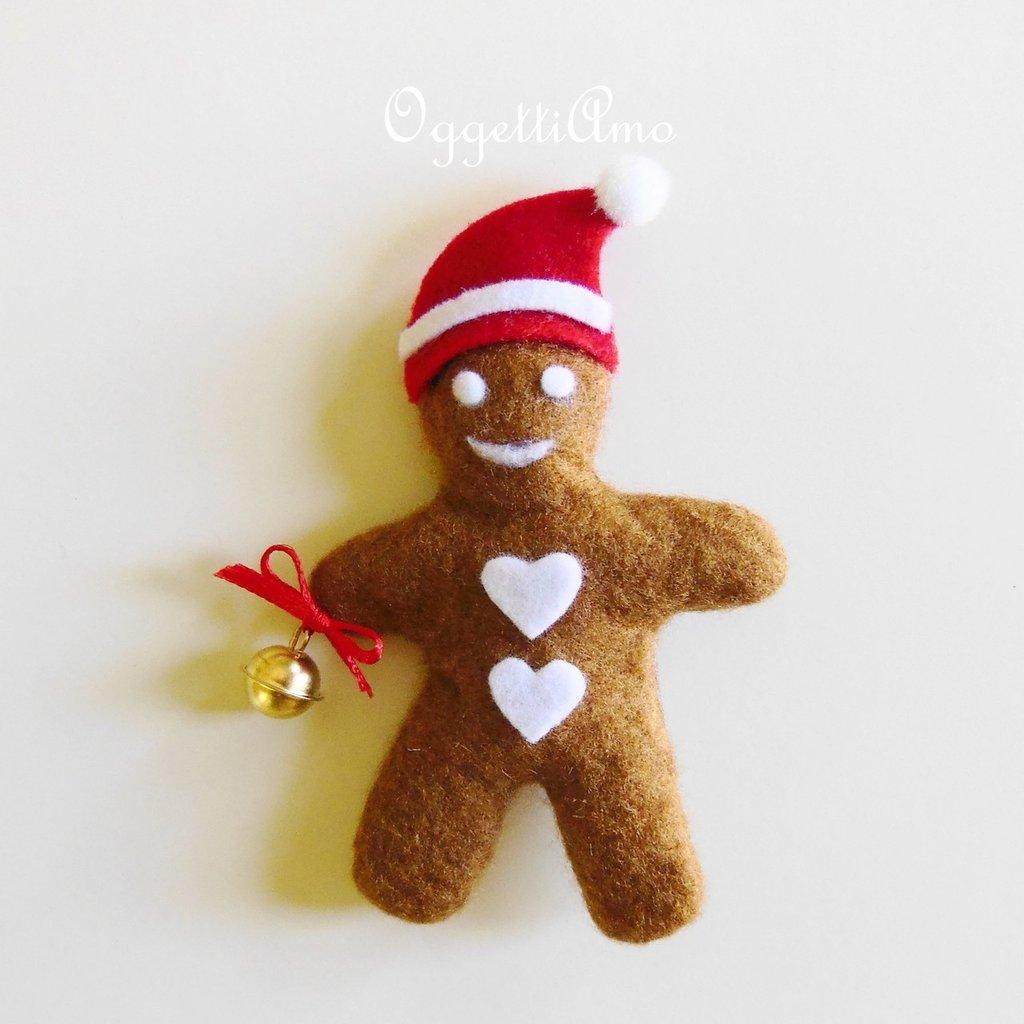 Biscotti di Pandizenzero in feltro: decorazioni per l'albero di Natale, calamite o spille?