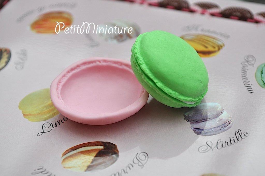STAMPO MACARON 4cm ST0027 stampo silicone flessibile kawaii charm fimo sapone resina gesso parigi ladurèe miniature gioielli