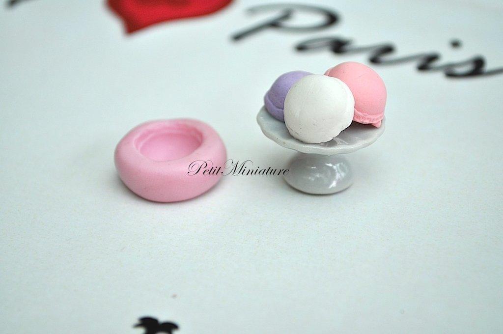STAMPO GELATO 1,3cm ST006 in silicone flessibile 3d macaron miniature dollhouse charm kawaii fimo gioielli sapone resina gesso