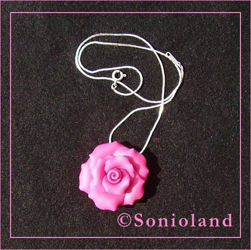 Ciondolo Rosa Fucsia