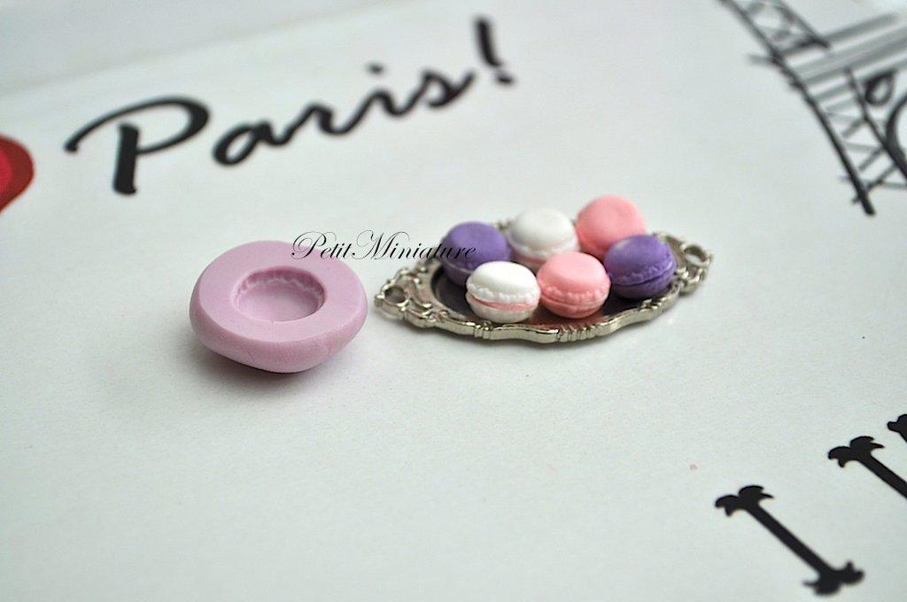 STAMPO MACARON 2cm ST003 in silicone flessibile 3d macaron miniature dollhouse charm kawaii fimo gioielli sapone resina gesso