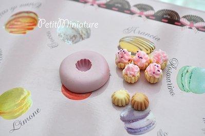 Cupcake BASE stampo 3D ST016 Silicone flessibile Mold panna montata in miniatura Kawaii dolci Mold Fimo gioielli Charms cibo Soap resina