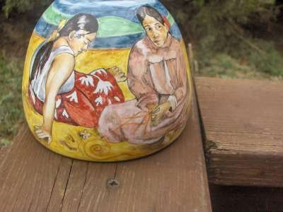 tahiti gauguin vaso ceramica