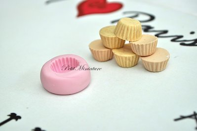 STAMPO base cupcake 1,3cm ST008 in silicone flessibile 3d macaron miniature dollhouse charm kawaii fimo gioielli sapone resina gesso