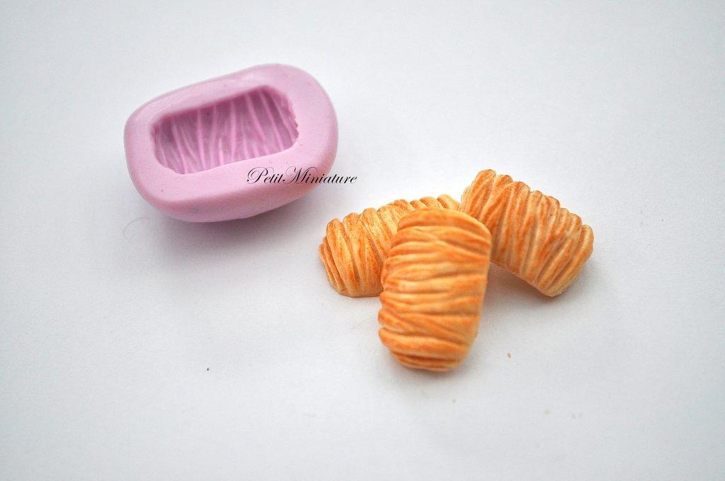 STAMPO PANE ST053 croissant in silicone flessibile stampo dolci dollhouse fimo gioielli charms cabochon cibo in miniatura kawaii