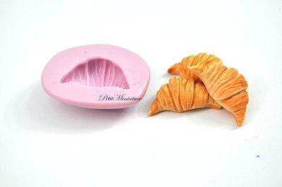 STAMPO PANE ST054 croissant in silicone flessibile stampo dolci dollhouse fimo gioielli charms cabochon cibo in miniatura kawaii