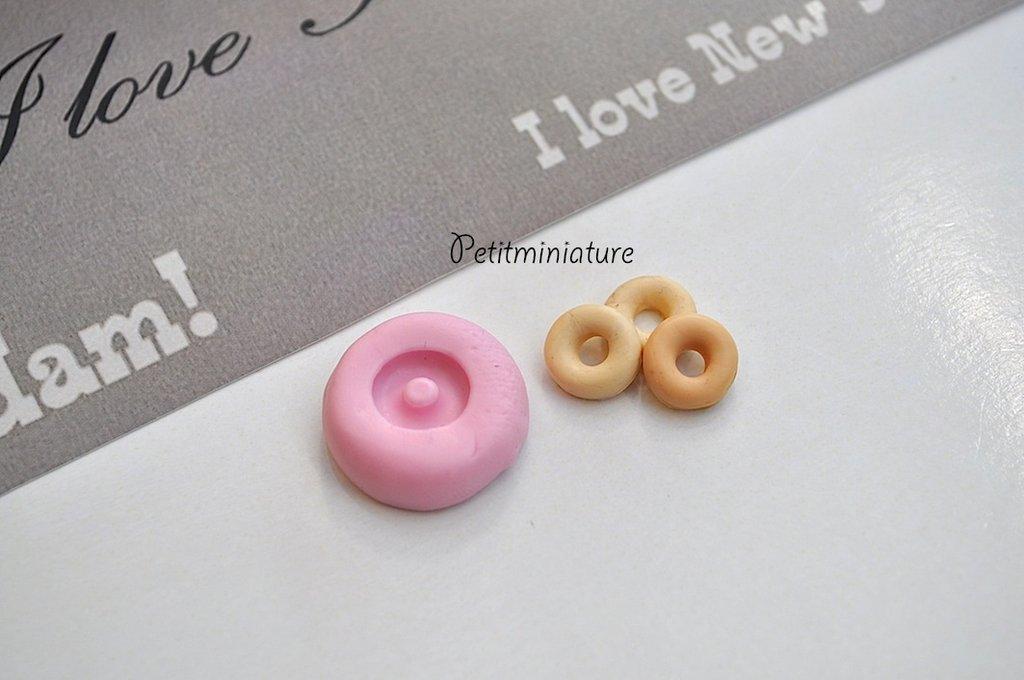 STAMPO CIAMBELLA ST017 silicone flessibile stampo dolci dollhouse fimo gioielli charms cabochon cibo in miniatura kawaii