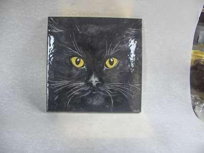 attenti al gatto ceramica