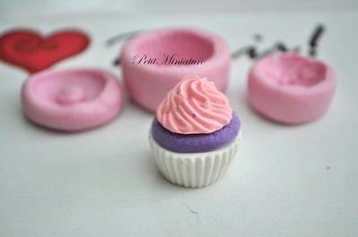 STAMPO FIMO cupcake 2,5cm ST031 in silicone flessibile 3d macaron miniature dollhouse charm kawaii fimo gioielli sapone resina gesso