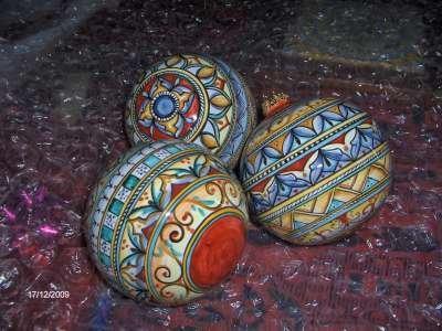 palla natale ceramica