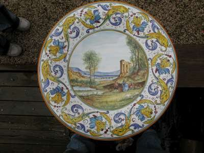 roma sparita ceramica piatto