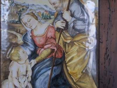 sacra famiglia con angello raffaello