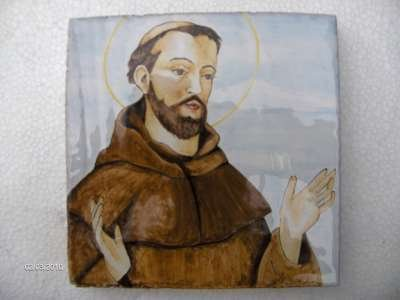 san francesco assisi ceramica
