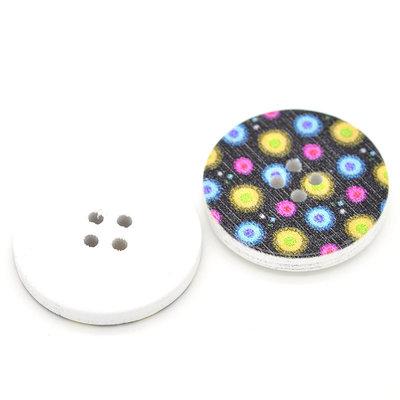 Set 5 bottoni 30mm - Multicolor