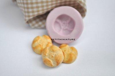 STAMPO per fimo pane italiano ,panino rosetta ST041 in silicone flessibile, stampo pane dollhouse,baguette,pane pugliese,pane ferrarese,negozio panificio