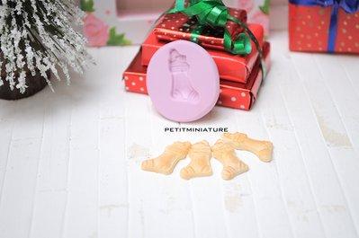 Natale Stampo fimo Calza Natale- Biscotto-Orecchini Fimo Gioielli handmade-Natale,Bianco Natale,kawaii,Cabochon ST065