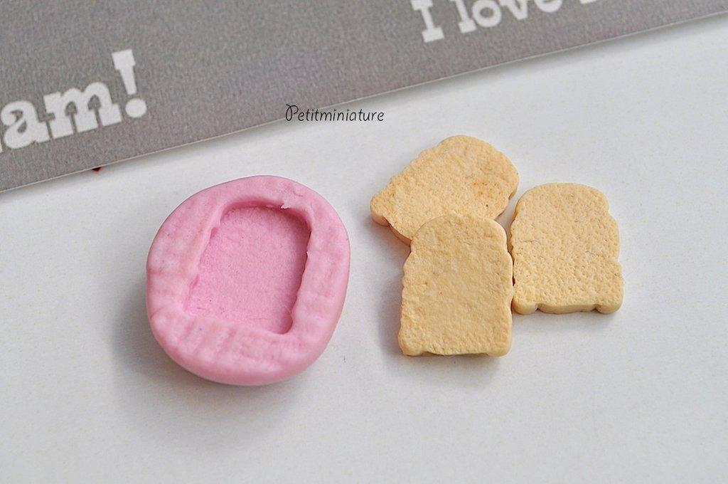 STAMPO PANE ST013 in silicone flessibile stampo dolci dollhouse fimo gioielli charms cabochon cibo in miniatura kawaii