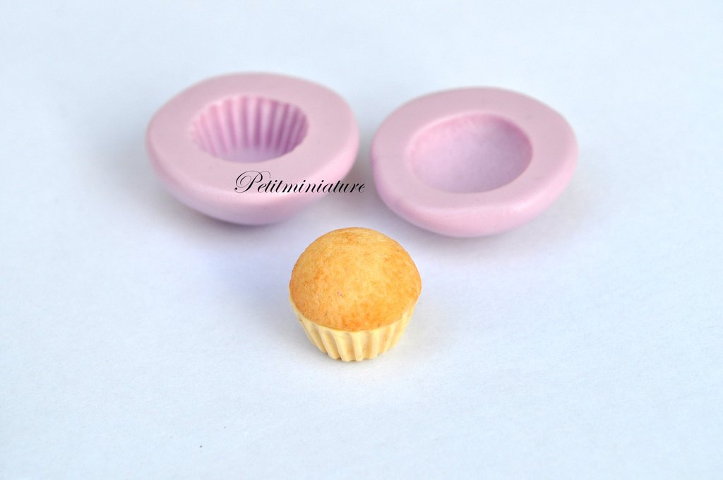 TAMPO FIMO cupcake 1,5mm ST026 in silicone flessibile 3d miniature dollhouse charm kawaii fimo gioielli sapone resina gesso