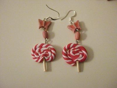 Orecchino lollipop rosa